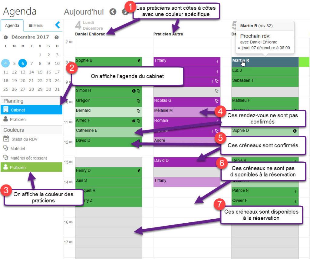 Agenda en ligne pour cabinet kinésithérapeute